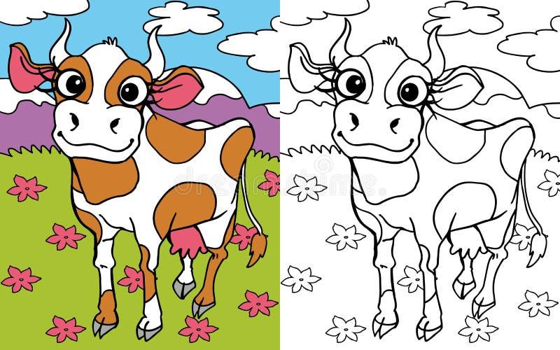 TARGET299_1_ książkowa krowa obrazy stock