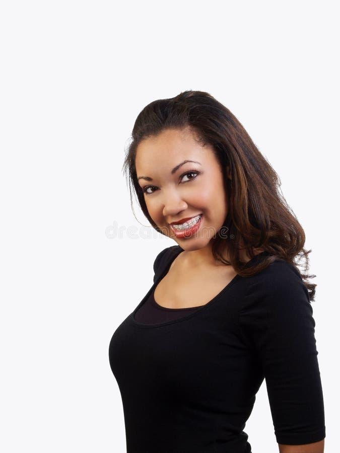 target30_0_ kobiet potomstwa czarny brasy zdjęcia royalty free