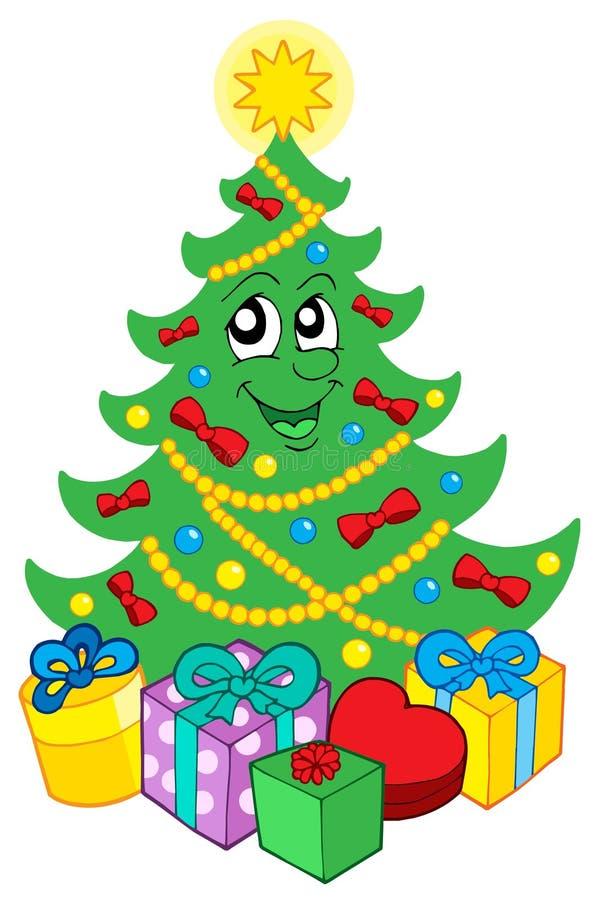 target3358_0_ drzewa Boże Narodzenie prezenty ilustracji
