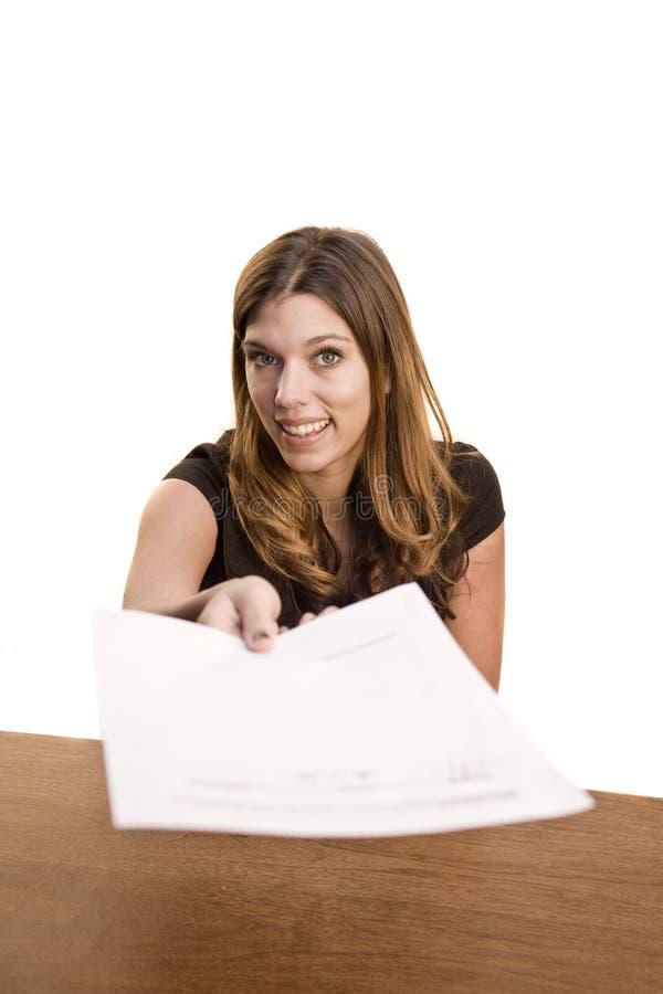 target347_0_ nad papierową kobietą zdjęcia stock