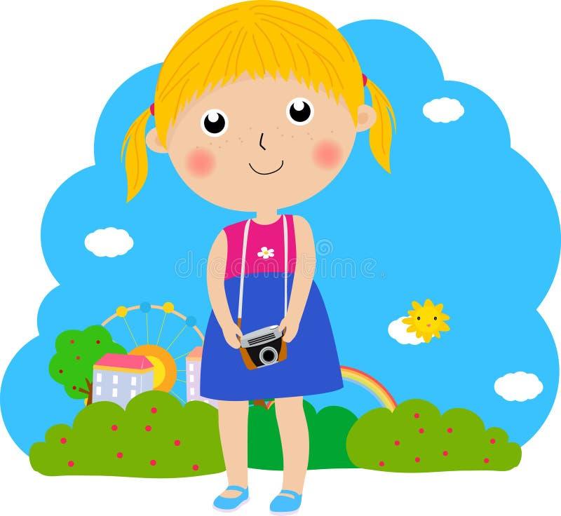 TARGET377_1_ kamery zabranie dziewczyna royalty ilustracja