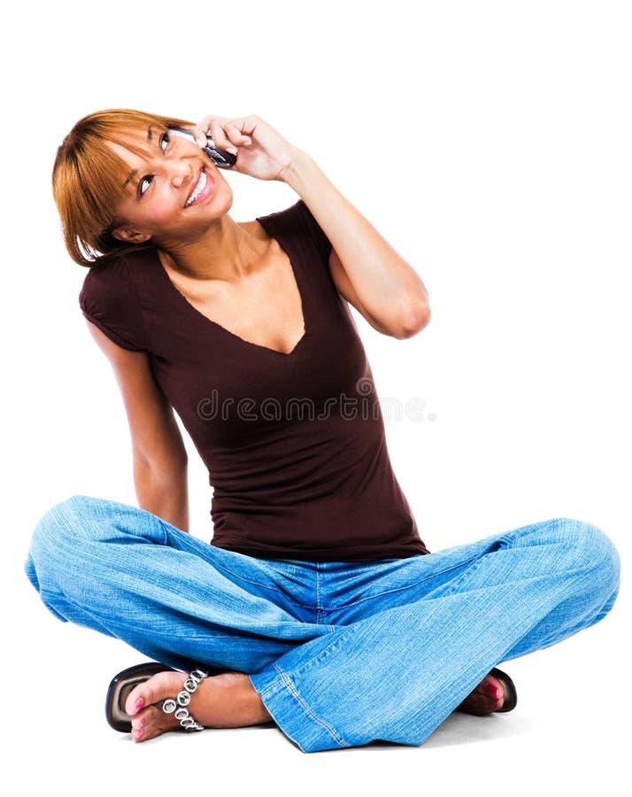 target379_0_ telefon komórkowy kobieta obrazy royalty free