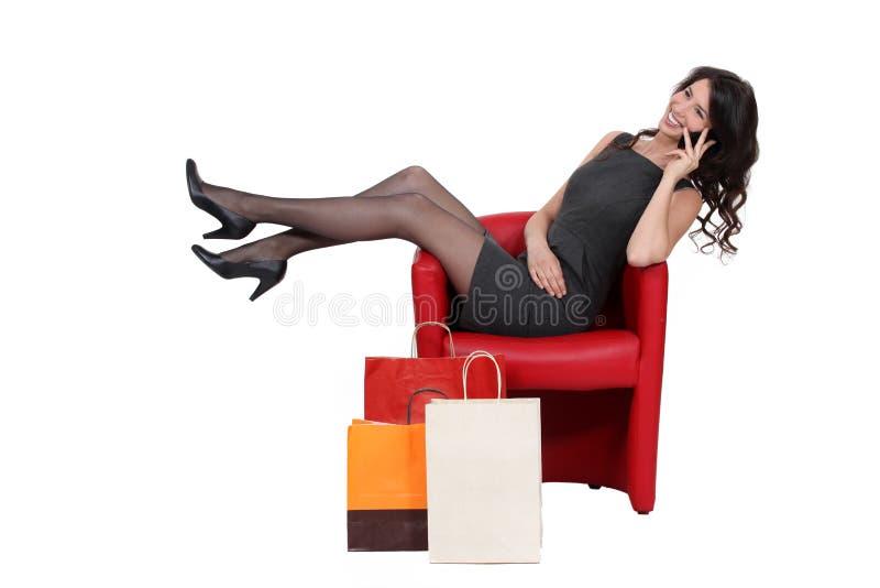 target3966_0_ telefon kobieta zdjęcie stock