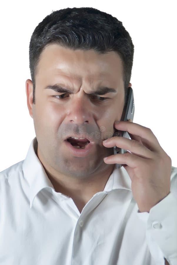 TARGET404_0_ na telefon komórkowy atrakcyjny mężczyzna obrazy stock