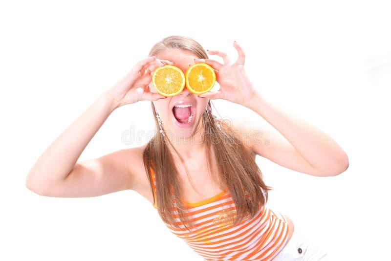 target418_0_ kobiety pomarańczowi pierścionki obraz royalty free