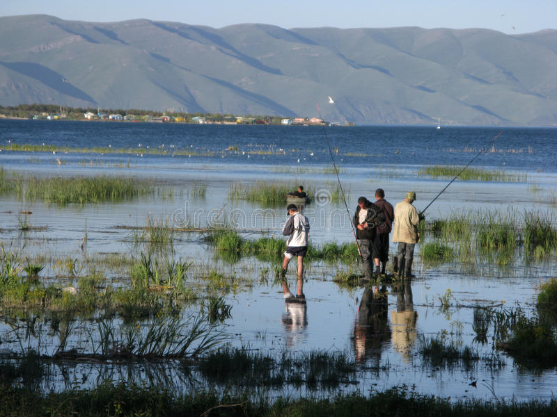 TARGET511_1_ na Jeziornym Sevan fotografia stock