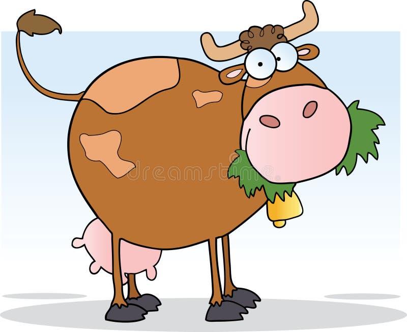 target787_0_ krowy trawa ilustracja wektor