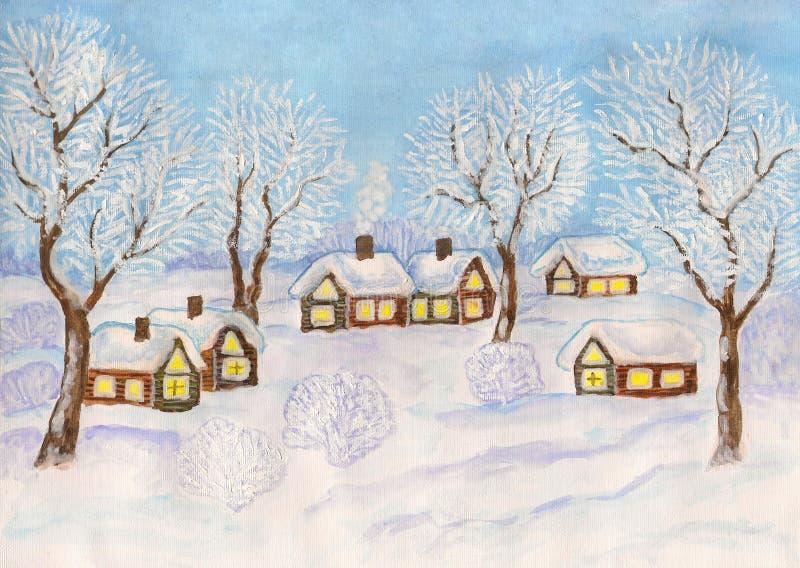 TARGET806_1_ zima krajobraz, royalty ilustracja