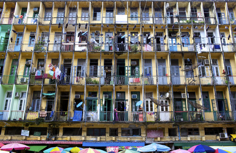 target827_1_ mieszkaniowy Yangon zdjęcia royalty free