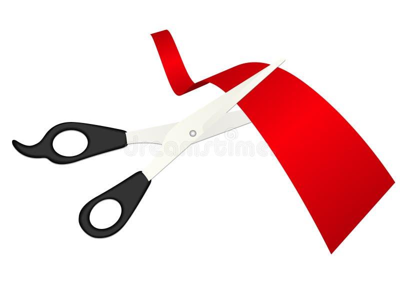 target86_1_ ribb szczegółowych ilustracyjnych nożyce royalty ilustracja