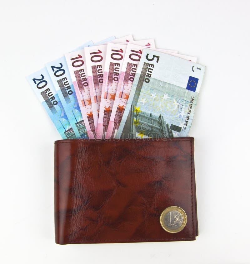 TARGET872_0_ euro rzemienny portfel zdjęcia stock