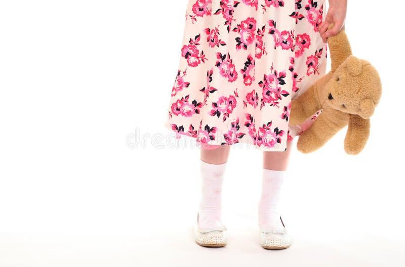 target873_1_ małego miś pluszowy niedźwiadkowa dziewczyna młody zdjęcia royalty free