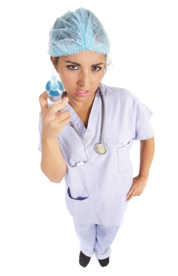 target902_1_ groźnej igielnej pielęgniarki zdjęcia stock