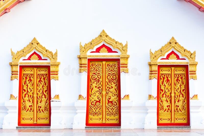 target918_1_ tajlandzcy trzy błagający drzwi zdjęcia stock