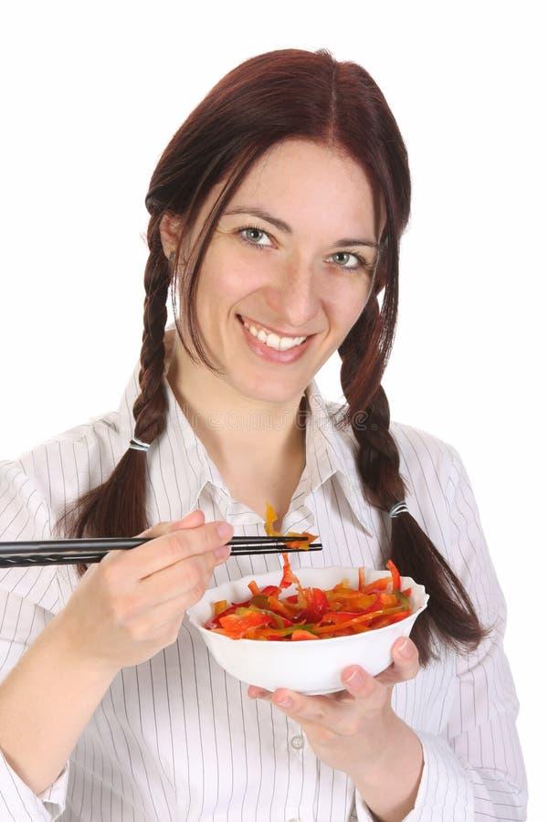 target979_1_ kobiety piękni chopsticks obraz stock