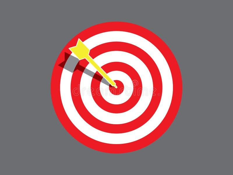 Targetboard med pilen stock illustrationer