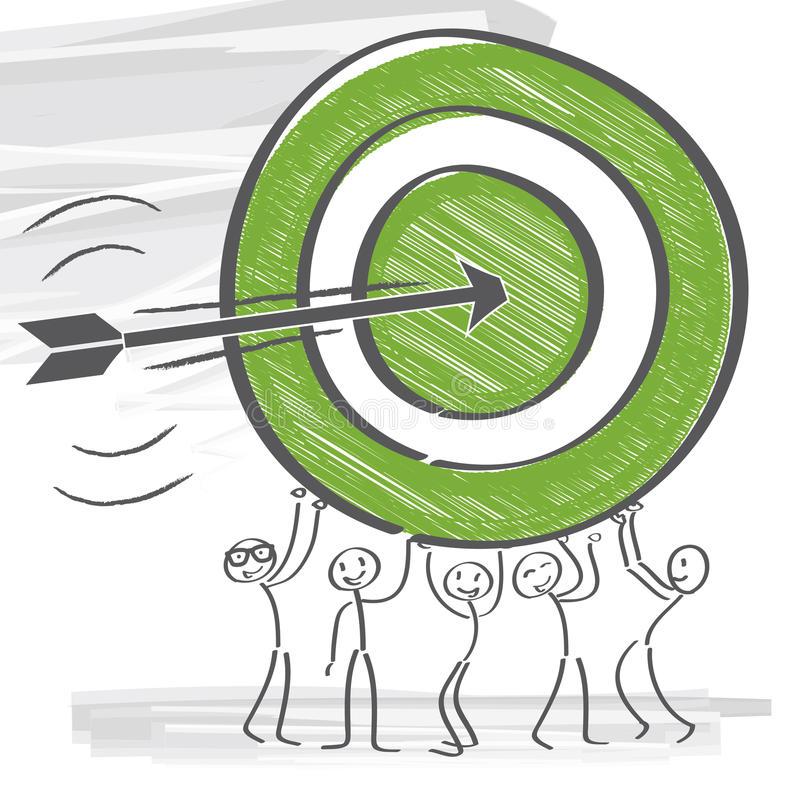 targeting vektor illustrationer