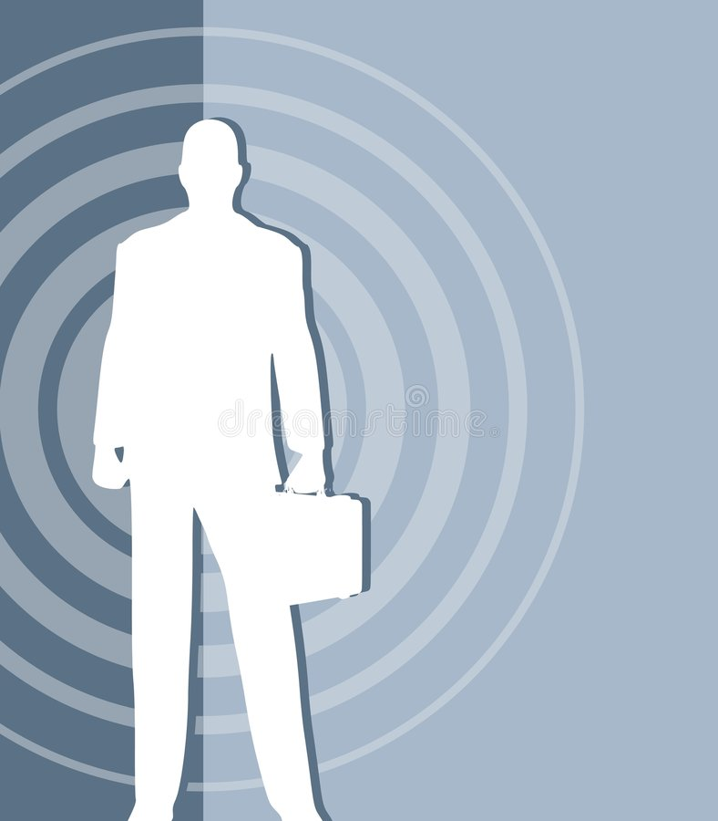 Targeting Business Man vector illustration
