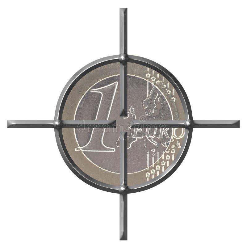Targeting Euro vector illustration