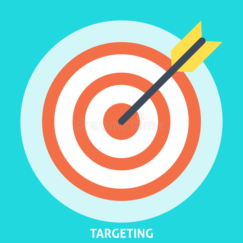 Targeting Icon Flat royalty free illustration