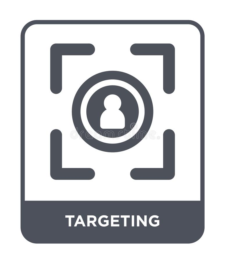 Targeting icon in trendy design style. targeting icon isolated on white background. targeting vector icon simple and modern flat. Symbol for web site, mobile stock illustration