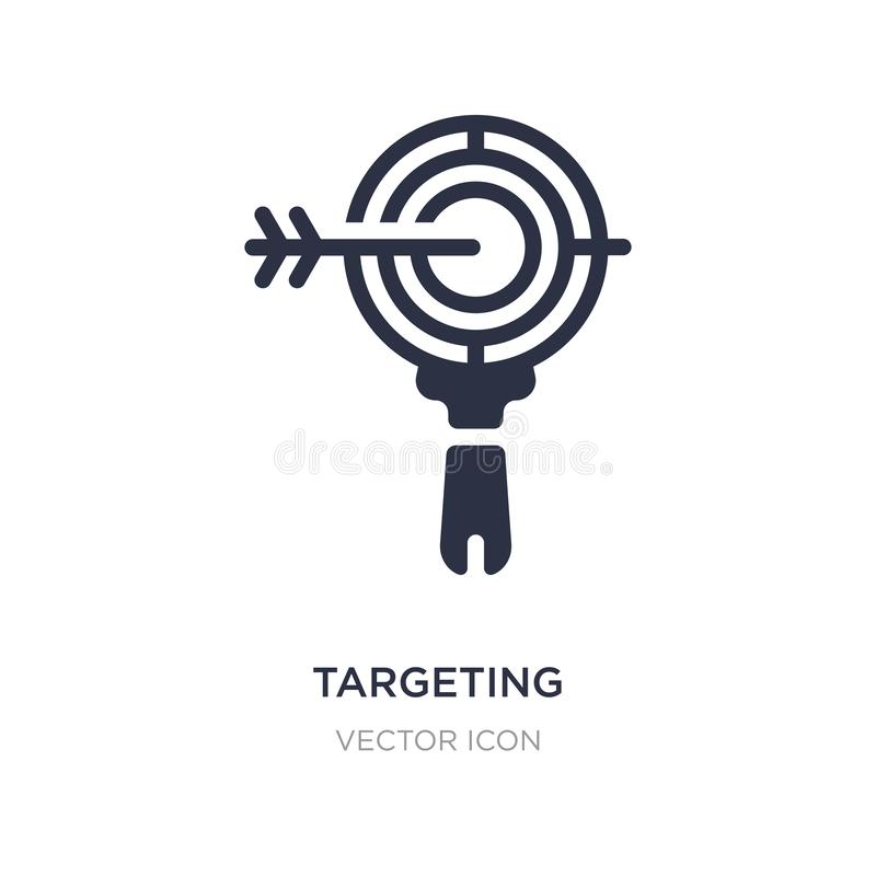 targeting icon on white background. Simple element illustration from Search engine optimization concept vector illustration