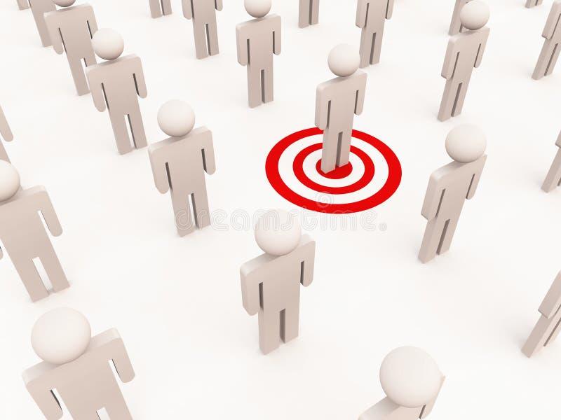 Targeting one individual stock illustration