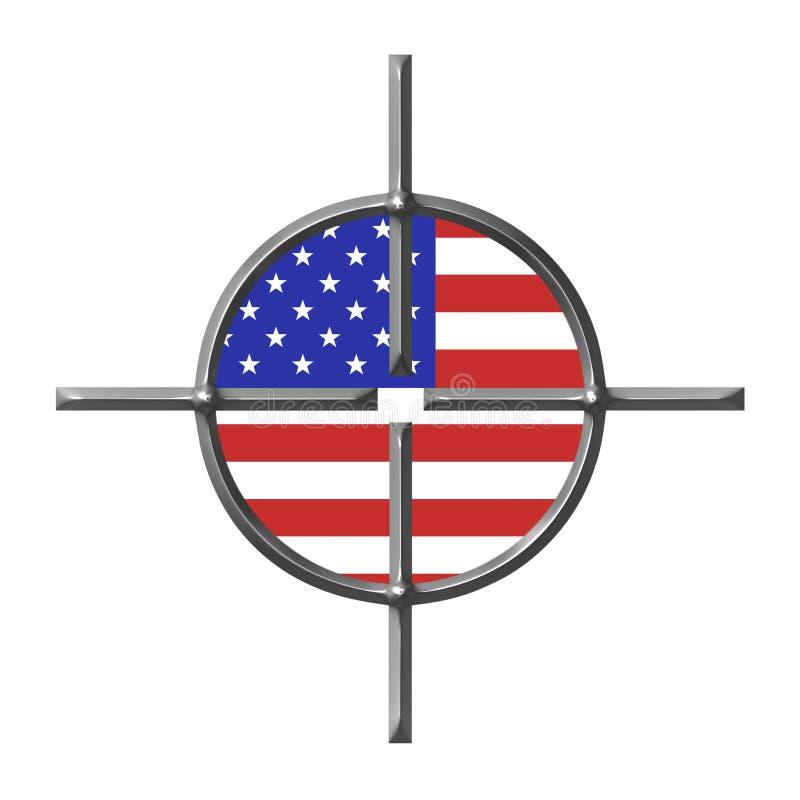 Targeting USA royalty free illustration