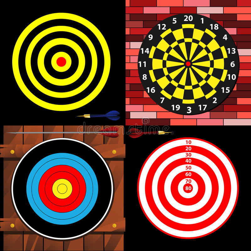 Download Targets stock vector. Image of point, luck, competition - 28109029