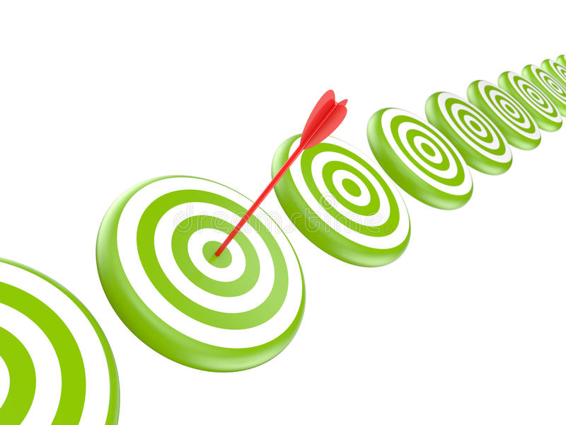 Targets With Arrow Royalty Free Stock Images