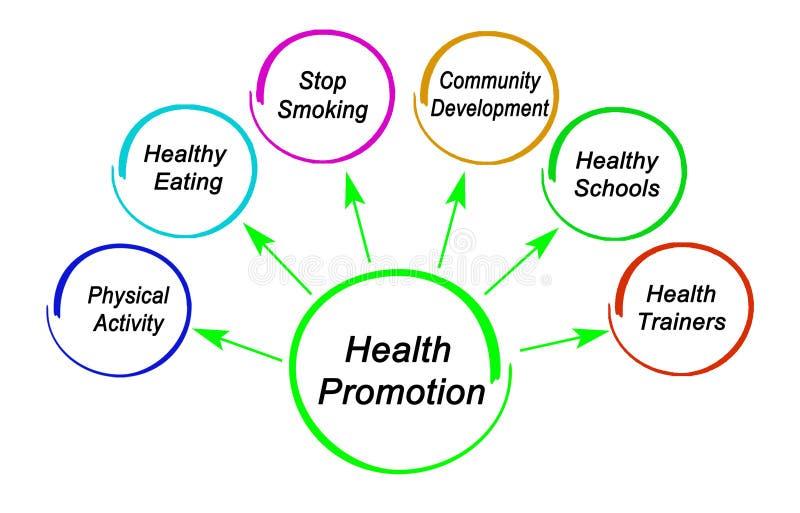 Targets Of Health Promotion Stock Illustration - Illustration of schools,  development: 181053037