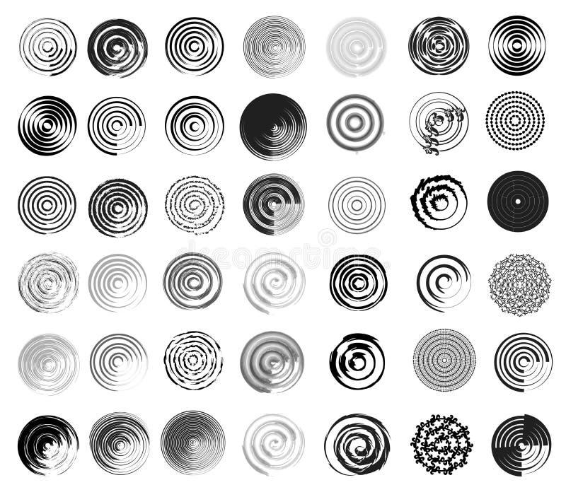 Circle Design Art : Targets swirls and circle designs stock vector