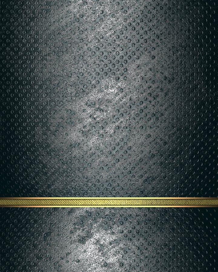 Targhetta di lerciume con la linea elemento dell'oro per progettazione Mascherina per il disegno copi lo spazio per l'opuscolo de illustrazione di stock