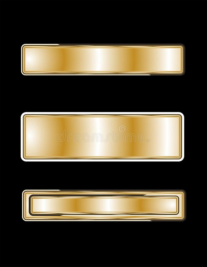 targhette d'ottone 3d illustrazione vettoriale