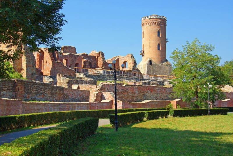 Targoviste: chindia tower and citadel stock photo