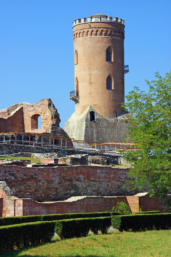Targoviste: chindia tower detail royalty free stock images