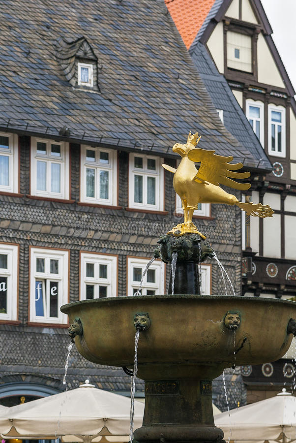Targowa fontanna, Goslar, Niemcy zdjęcie stock