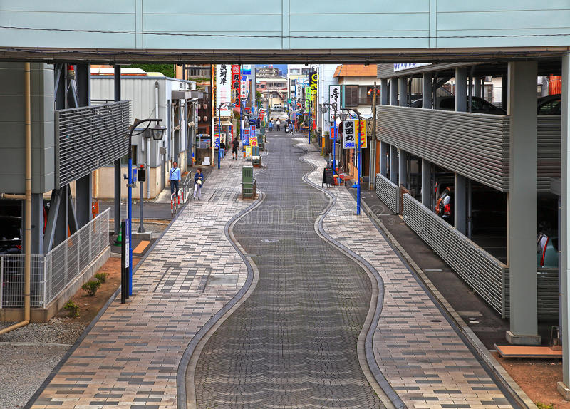 Targowa ulica przy Numazu portem obraz royalty free