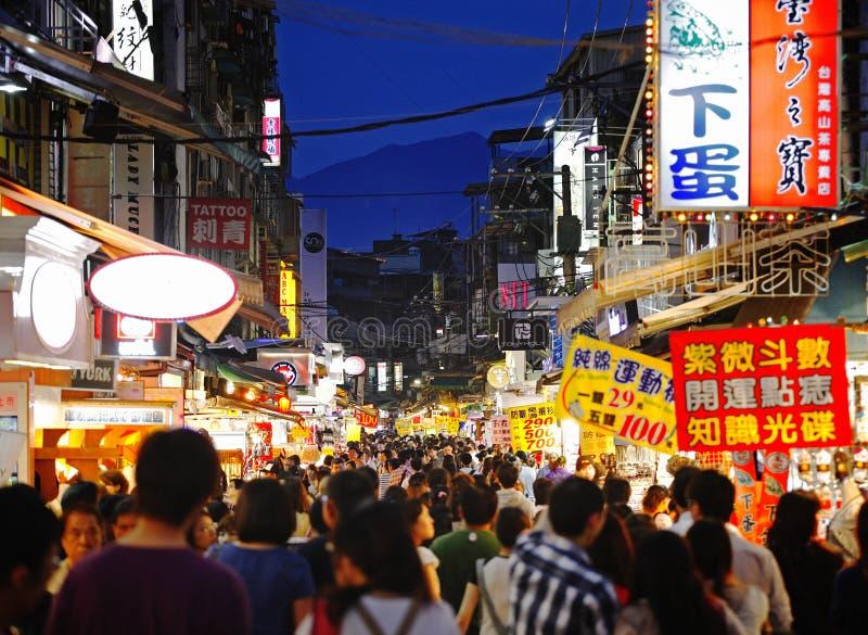 targowa ulica Taiwan obrazy royalty free