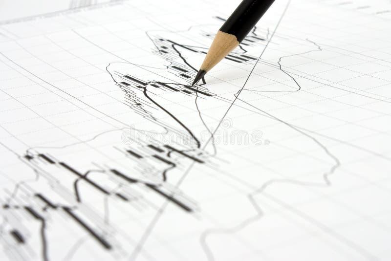 targowi ołówkowi trendy zdjęcie stock