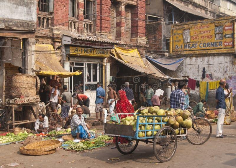 targowy Calcutta warzywo obrazy stock