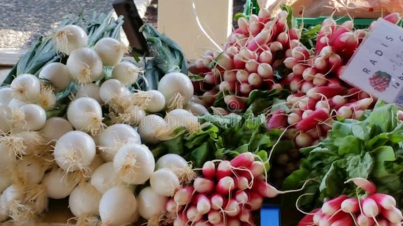 Targowy dzień w Tournon Francja zdjęcia stock