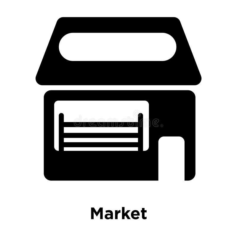 Targowy ikona wektor odizolowywający na białym tle, loga pojęcie ilustracji