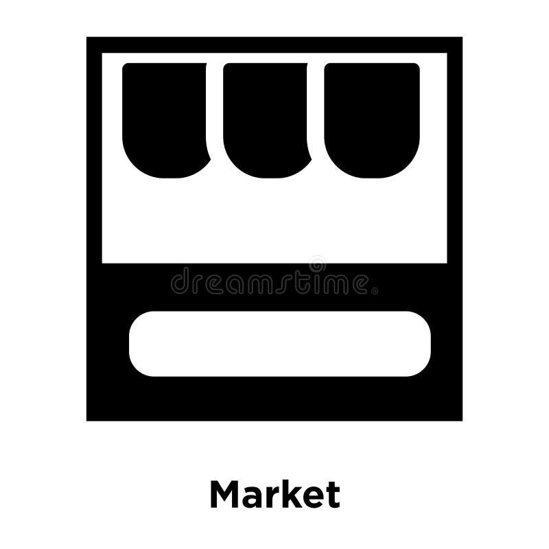 Targowy ikona wektor odizolowywający na białym tle, loga pojęcie ilustracja wektor