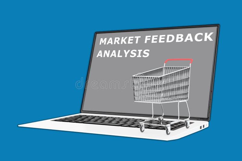 Targowy informacje zwrotne analizy pojęcie zdjęcie stock