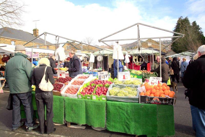 Targowy kram, Bakewell, Derbyshire. fotografia stock