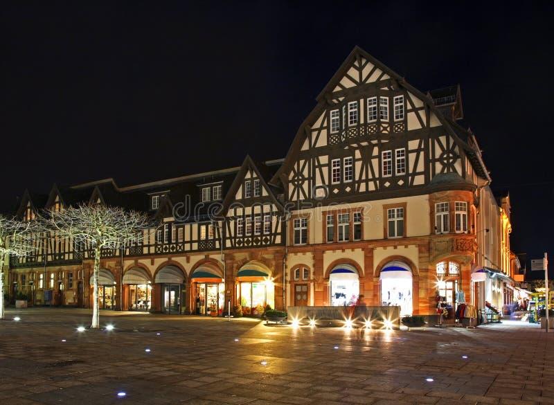 Targowy kwadrat w Złym Homburg Niemcy zdjęcia royalty free