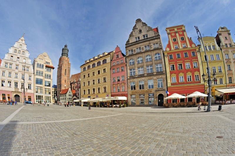 Targowy kwadrat, Wroclaw, Polska obrazy royalty free