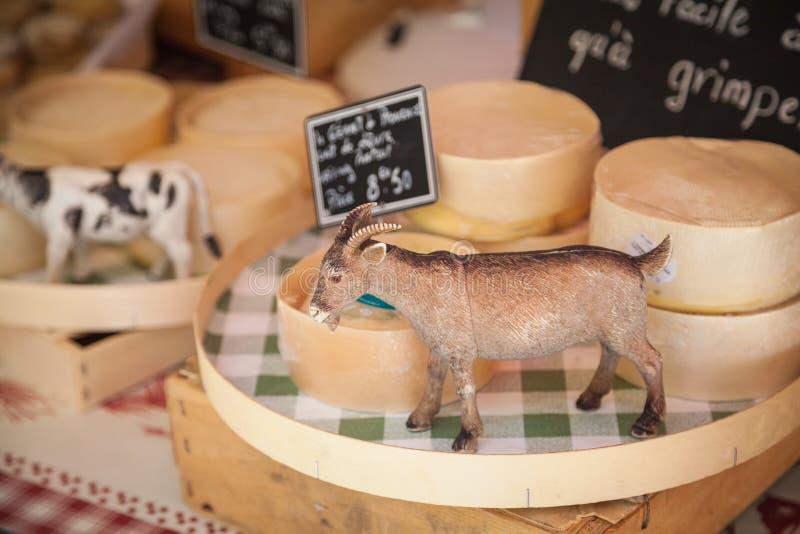Targowy serowy Provence Francja zdjęcie royalty free