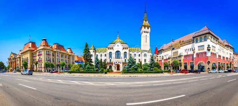Targu-Mures,罗马尼亚,欧洲 街道视图行政 免版税库存照片